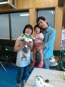 優しいパパ・ママと、がんばってくれました(^^)